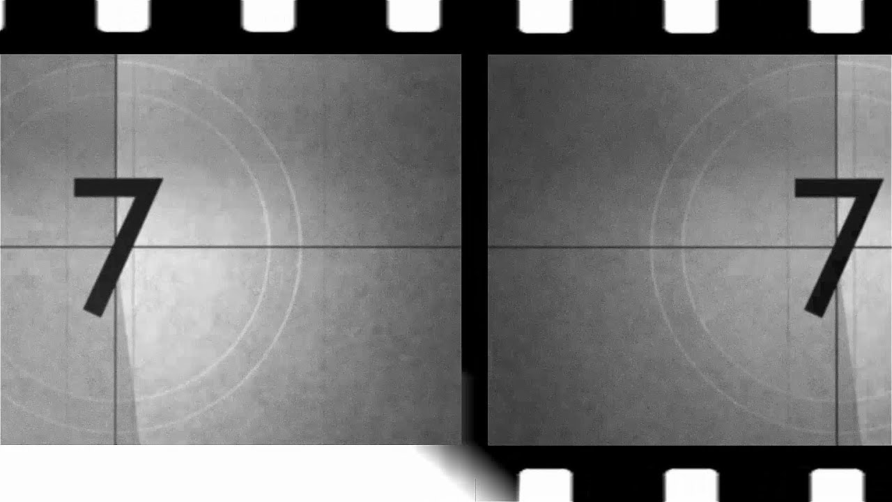 old movie countdown v98 film intro with voice and sound
