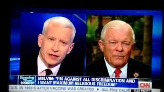 Arizona State Senator Al Melvin cannot honestly answer Anderson Cooper's simple question!