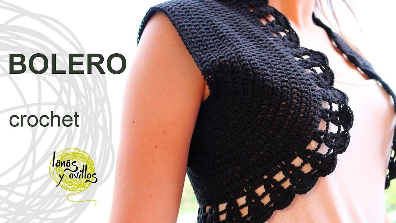 Tutorial Bolero Crochet O Ganchillo En Espa 241 Ol Youtube