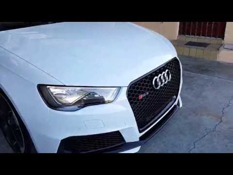 Glacier White Audi RS3 Post detail walk around and exhaust note