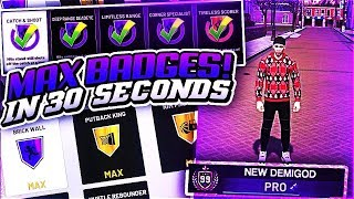 NBA2K19 NEW ALL BADGES INSTANT DEMIGOD GLITCH 👀 SECRET MYCAREER METHOD OTW!