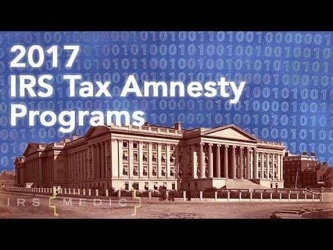2016 Federal IRS Tax Amnesty Programs