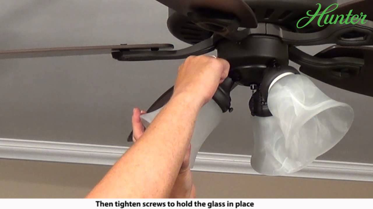 How To Install A Multi Light Kit On Your Hunter Ceiling Fan 5xxxx Wiring Series Model Fans Youtube