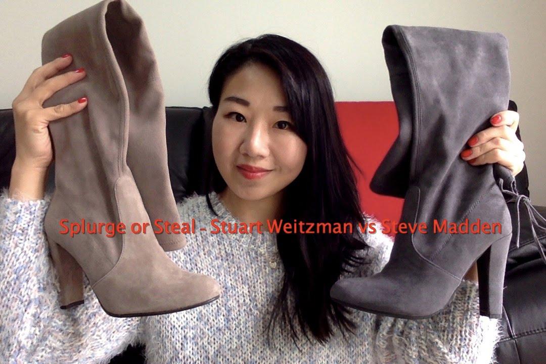 1faa2df258c Splurge or Steal Stuart Weitzman vs Steve Madden - YouTube