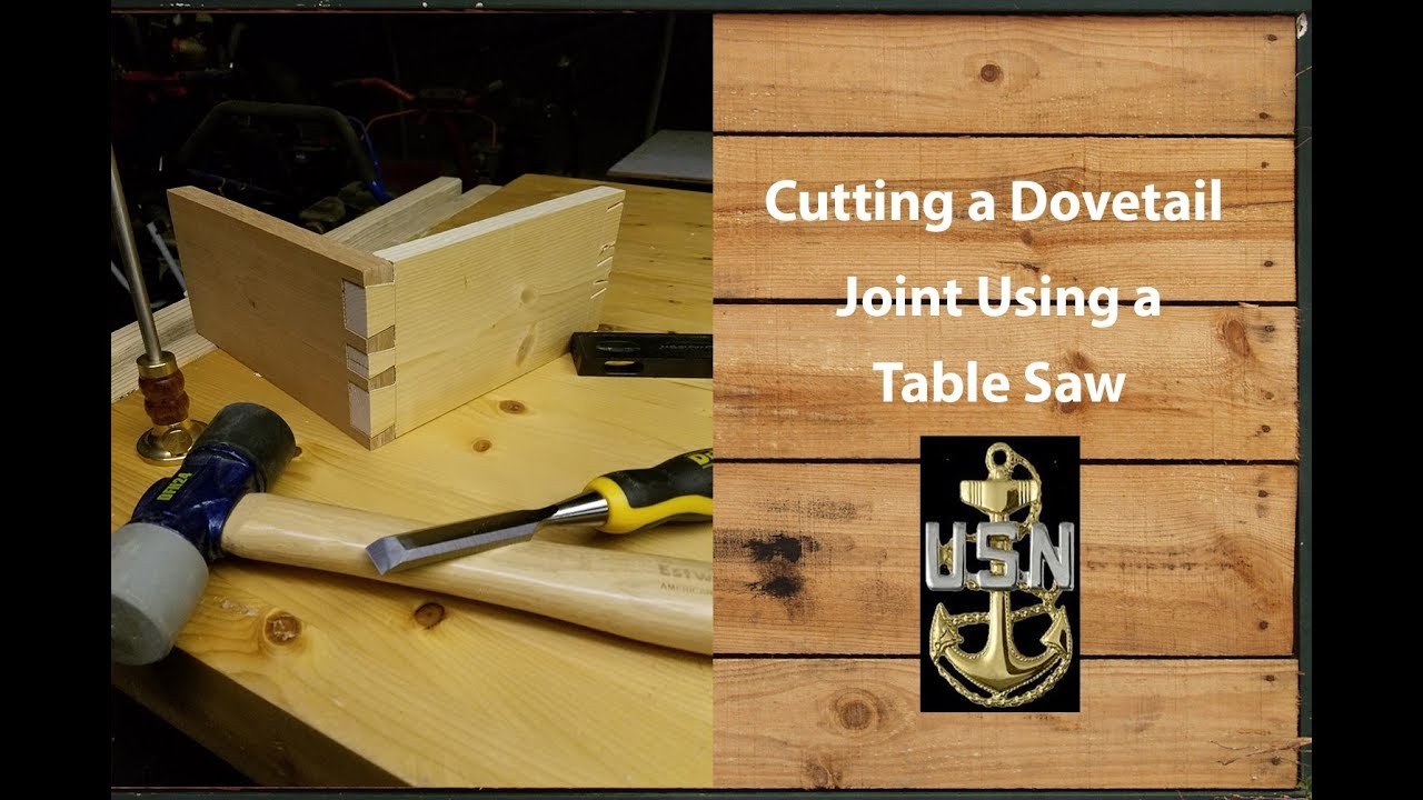 how to make dovetail joints with a table saw