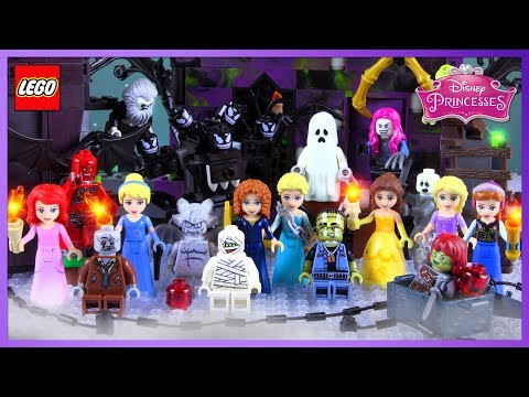 ♥ LEGO Disney Princess CHRISTMAS NIGHTMARE Stop-Motion Cartoon Animation For Kids