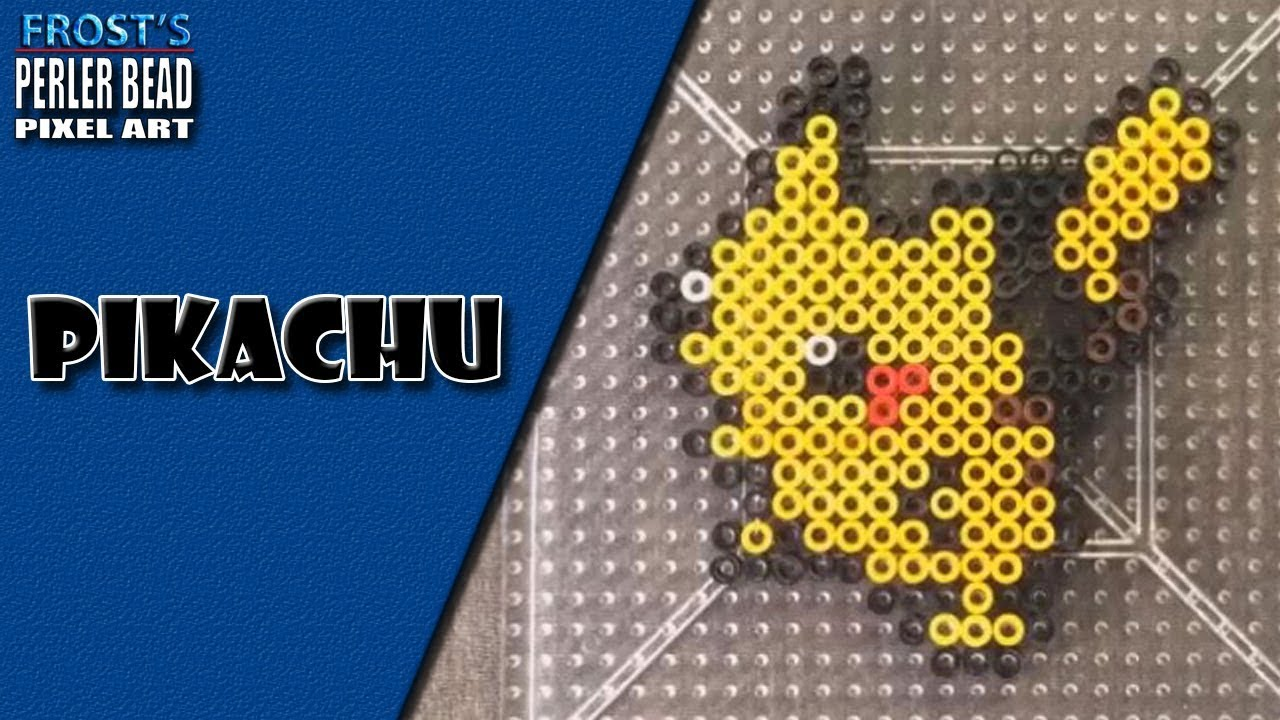 pokemon perler bead pikachu [ 1280 x 720 Pixel ]
