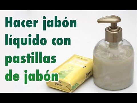 como hacer jabon liquido casero en casa