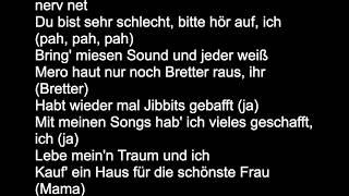 MERO - WIE BUFFON   lyrics