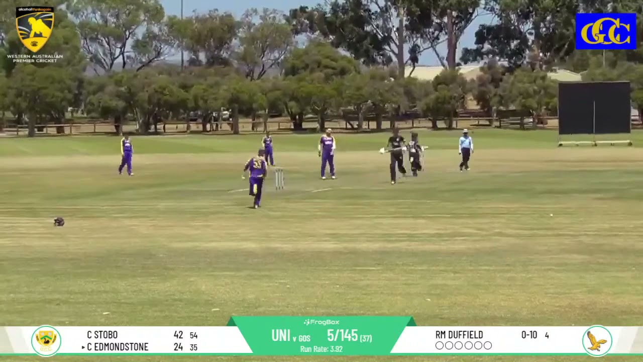 UCC vs Gosnells DCC Round 11 First Grade - Coby Edmondstone Half Century Highlights Package