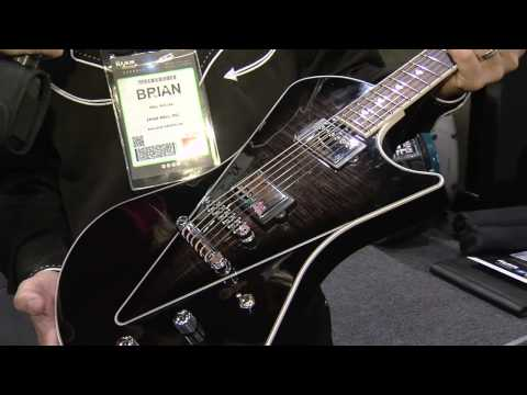 SKB Cases with Ernie Ball's new Music Man Armada Guitar at 2013 NAMM Show
