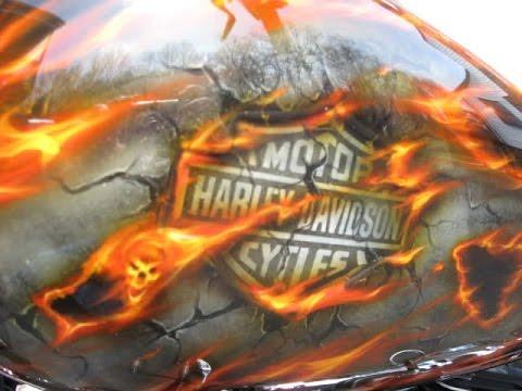 Airbrush on Harley Davidson custom bikes