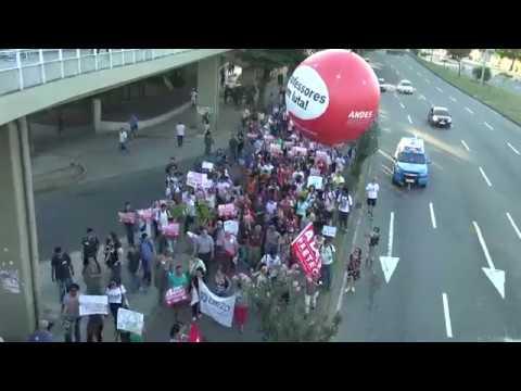 Ato em Defesa da Educação Pública, no Rio de Janeiro.