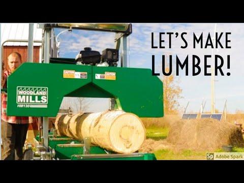 Harvesting And Milling Poplar With Woodland Mills HM130 Woodlander XL