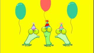 Funny Frogs - Happy Birthday Animation