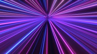 Abstract Neon Laser Line Shooting Stars Fly Above Mirror Reflection 4K Motion Background for Edits