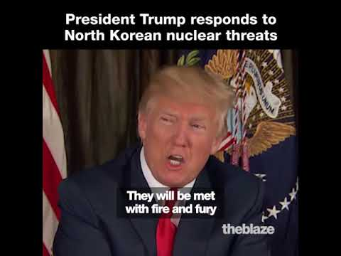 Download Youtube: Trump's Response to North Korea Nuclear Threats