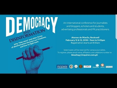 LIVE: Democracy and Disinformation Forum, 12 February 2018