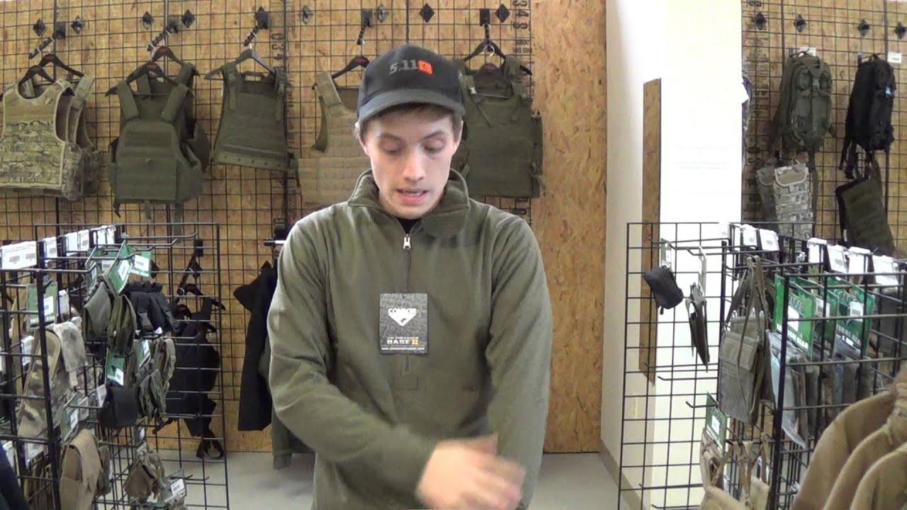 Condor Base II 1/4 Zip Pullover Grid Fleece Olive - YouTube