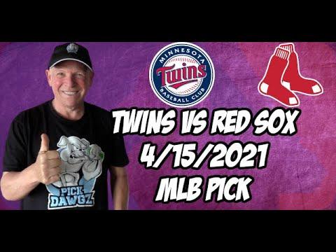 Minnesota Twins vs Boston Red Sox 4/15/21 MLB Pick and Prediction MLB Tips Betting Pick