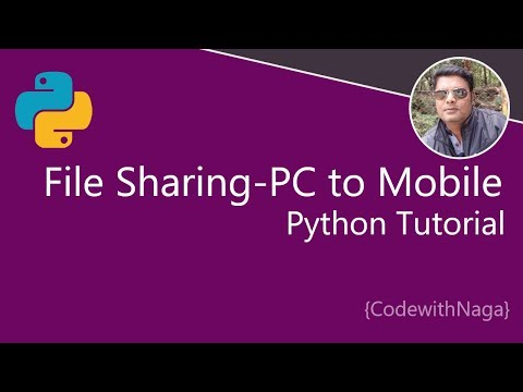 Python Tutorial In Tamil | File Sharing From Computer To Mobile Using Python