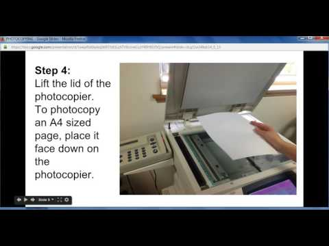 Step by step instructions on how to use the library's photocopier