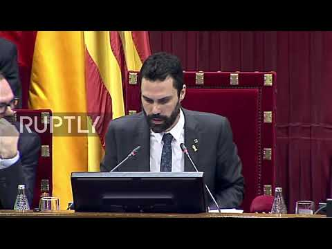 Spain: Catalan Parliament approves Puigdemont's 'right' to leadership