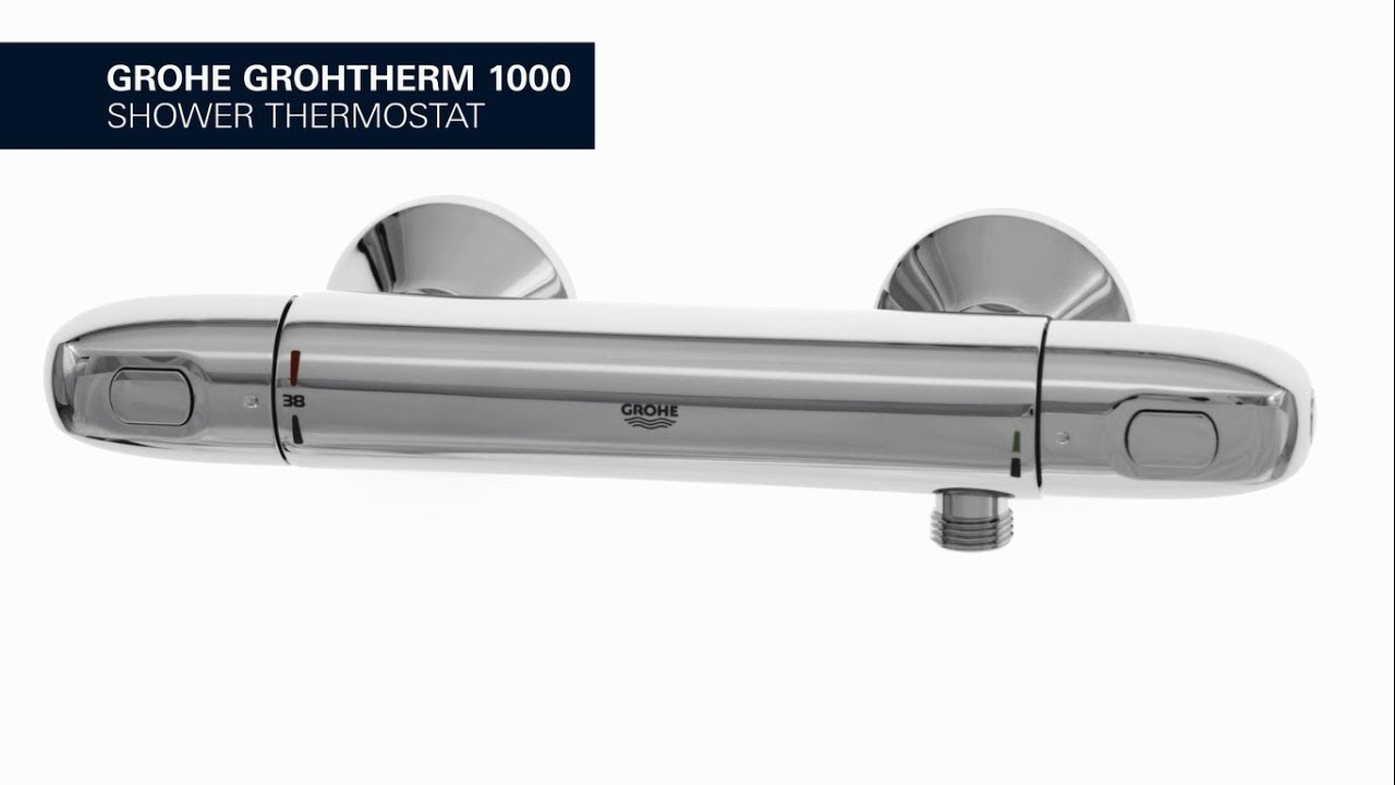 grohe grohtherm 1000 shower thermostat with grohe. Black Bedroom Furniture Sets. Home Design Ideas
