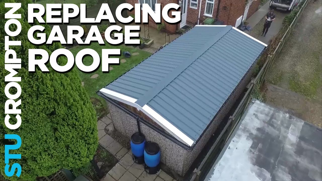 How To Replace Garage Roof In The Rain Youtube