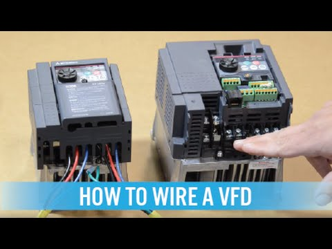 How to wire a VFD  variable frequency drive  YouTube