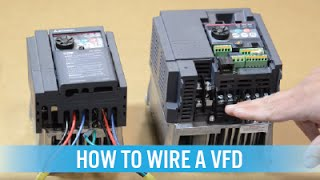 How to wire a VFD / variable frequency drive