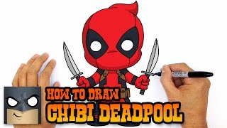 How to Draw Deadpool (Chibi)- Step by Step Drawing Lesson
