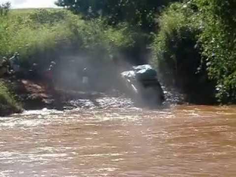 Car crossing river near town of Belobaka, Madagascar (3)
