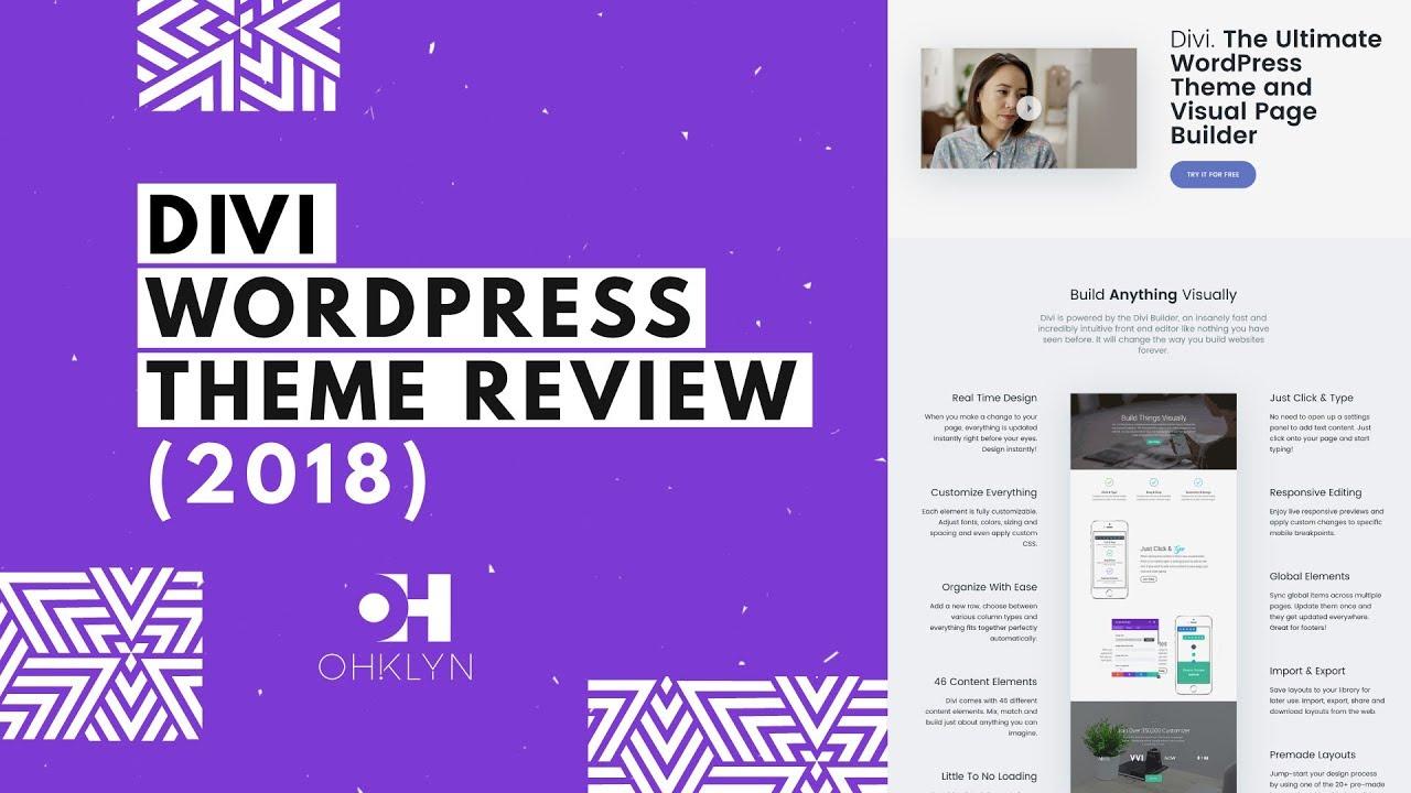 Divi Theme Review | Divi by Elegant Themes | Divi WordPress Theme Review  [2018]