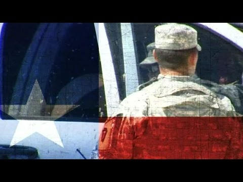 Why is Texas state guard monitoring U.S. military exercise?