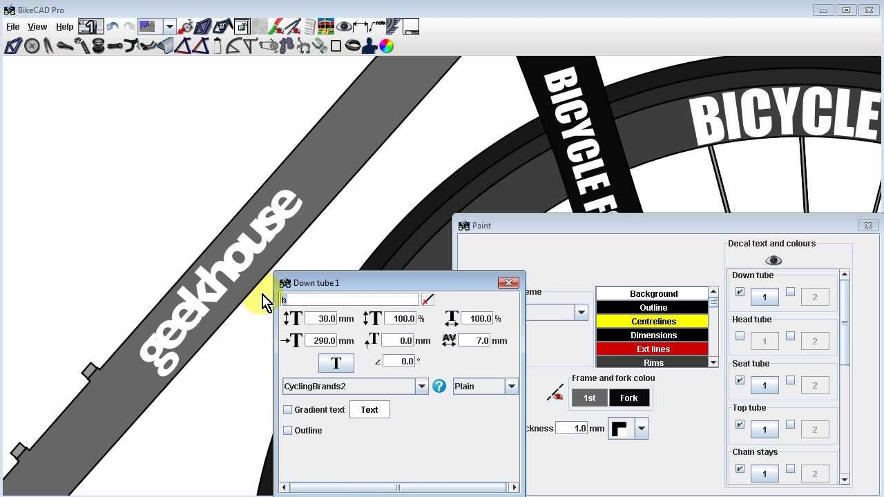 Bicycle Brand Logos In Bikecad Youtube
