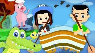 грести грести лодку | детская песня | детские стихи | Row Row Row Your Boat | Children Songs