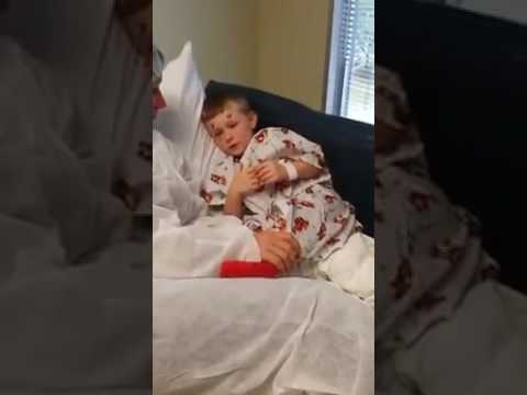 3yr old high on valium before surgery