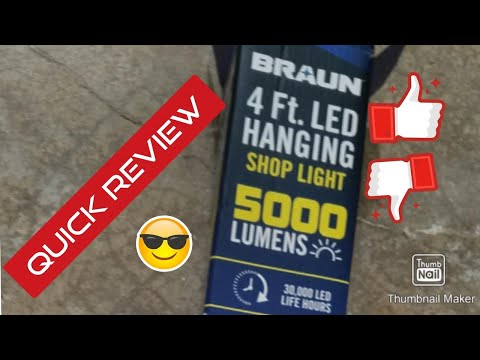 Quick Review:Braun 4' Shop light