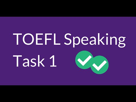 TOEFL Speaking Question 1 (With Sample Questions) - YouTube