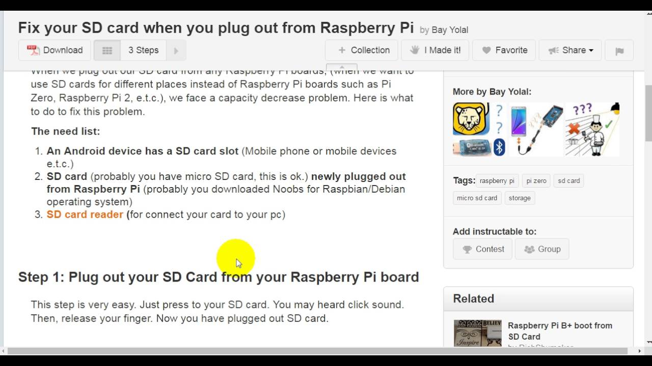 Fix Your SD Card When You Plug Out From Raspberry Pi: 4 Steps