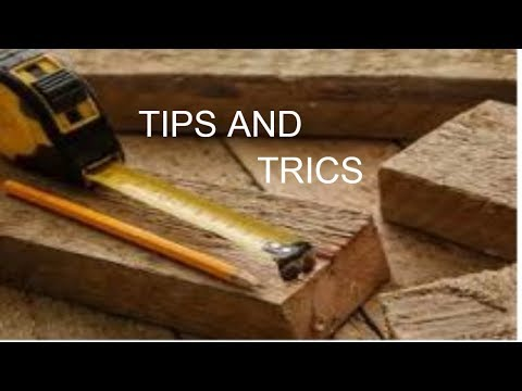 Diy wood tips and tricks - woodworking tips