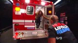 WWE Raw 2/13/12 Kane attack Eve [Eve kiss John Cena]