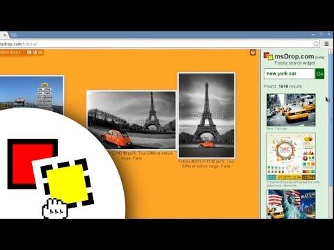 Fotolia API widget for msDrop.com