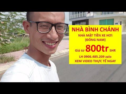 Nhà Bình Chánh mặt tiền gần chợ Hướng Đông Nam SHR chính chủ Giá từ 400tr LH zalo 0906485209