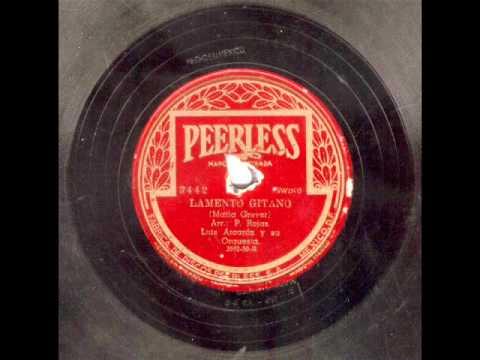 LUÍS ALCARÁZ  Y SU ORQUESTA - 6 TEMAS EN 78 rpm.- (Vol 2).