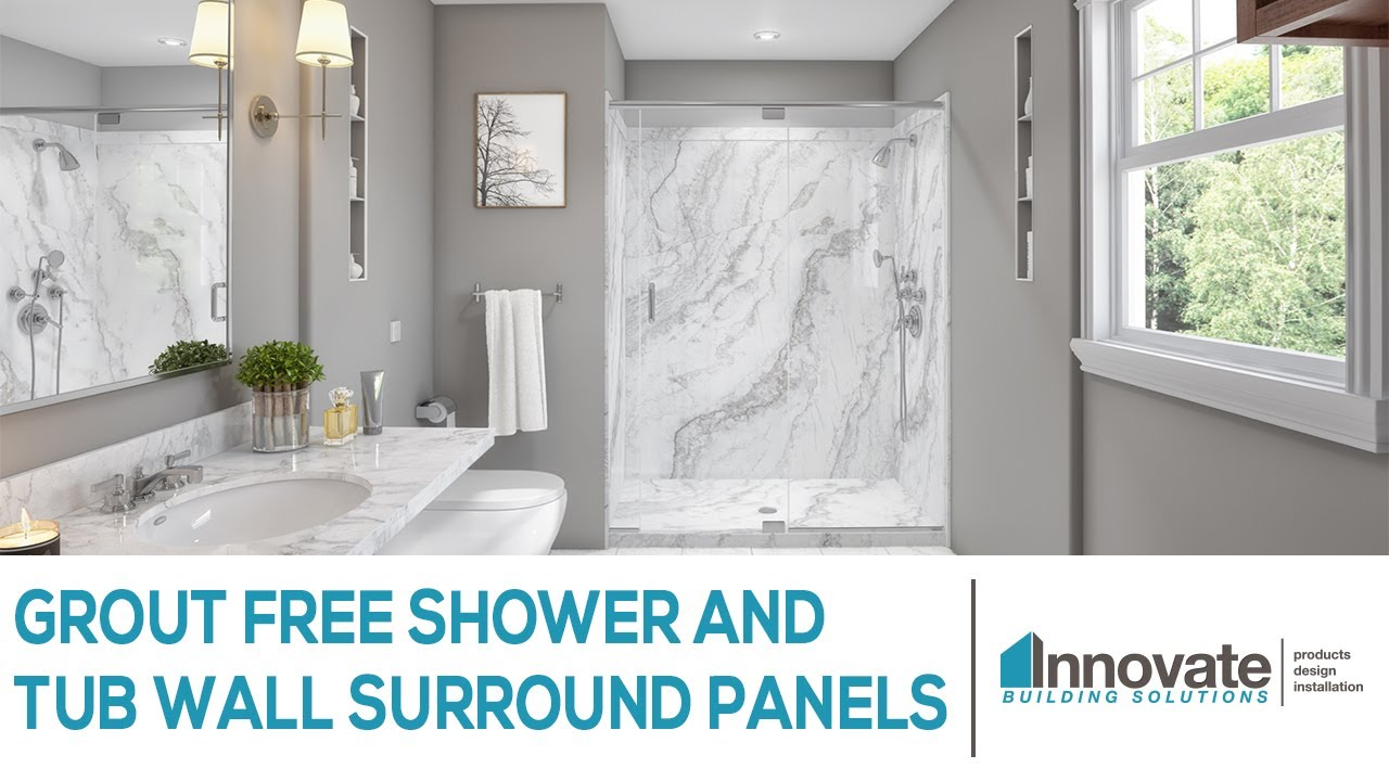 Grout Free Shower and Tub Wall Surround Panels Cleveland Columbus ...