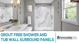 Grout Free Shower and Tub Wall Surround Panels Cleveland Columbus Nationwide