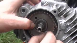 Installing - Rings, Piston, Cylinder & Timing Motorcycle Engine