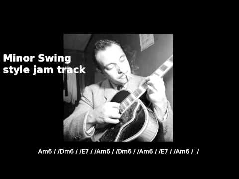 Gypsy Jazz Jam Track - Minor Swing Django - ARPS practice!